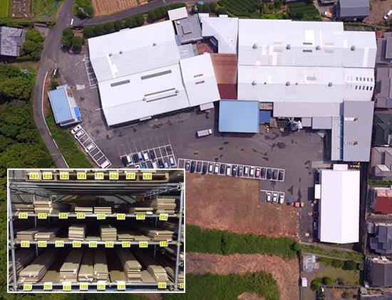 広大な工場敷地と倉庫スペース